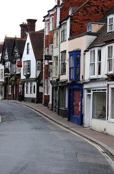 The High Street (primary business street) in Lewes,East Sussex.The county town…