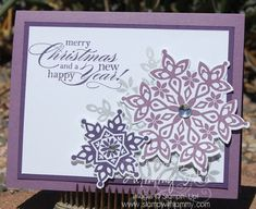Festive Flurry in Purple by Tkfite - Cards and Paper Crafts at Splitcoaststampers