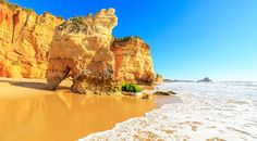 #Algarve, #Portugal is the top resort destination for family holidays in 2017 - via Teletext Holidays 06-01-2017 | You'll be spoilt for choice with over 150 beautiful beaches in the Algarve – dive in at the deep end with wild watersports or sunbathe in sheltered sandy coves. If you're all beached-out, wander to whitewashed towns with traditional fishing villages, crumbling cliffs and historic harbours. Photo: Praia da Rocha, Algarve, Portugal