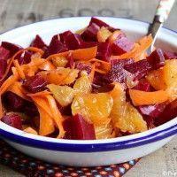 Salade de betteraves, oranges et carottes - - Raw Food Recipes, Veggie Recipes, Beef Recipes, Salad Recipes, Vegetarian Recipes, Cooking Recipes, Healthy Recipes, Beet Salad, Carrot Salad