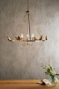 Golden Perch Chandelier | Anthropologie