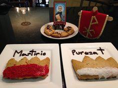 Familia Católica: Nuestras galletas para el día de San Maximiliano Kolbe - 14 de agosto 2014