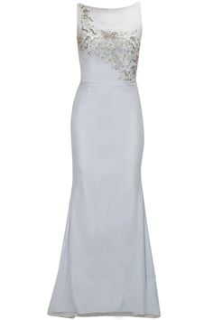 Blue sequins embroidered floor length gown available only at Pernia's Pop-Up Shop.