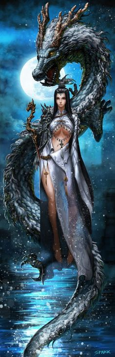 Bodhisattva dragon girl by Jie Li