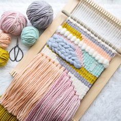Woven wall hanging in mustard and pink. Braided texture and natural stone. Made to order weaving tapestry Woven wall hanging in mustard and pink. Braided texture and Weaving Loom Diy, Weaving Art, Weaving Patterns, Tapestry Weaving, Hand Weaving, Loom Weaving Projects, Stitch Patterns, Knitting Patterns, Weaving Wall Hanging