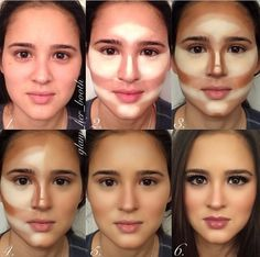Stunning examples of contouring makeup; this is like photoshop for real life!