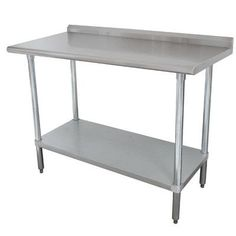"Advance Tabco Height Adjustable Stainless Steel Top Workbench Size: 37"" H x 72"" W x 24"" D"