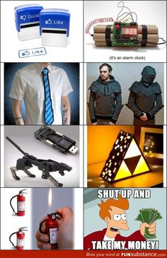 some awesome products! yes shut up and take my money! Really Funny Memes, Stupid Funny Memes, Funny Relatable Memes, Haha Funny, Take My Money, Cool Inventions, Shut Up, Funny Comics, Cool Things To Buy