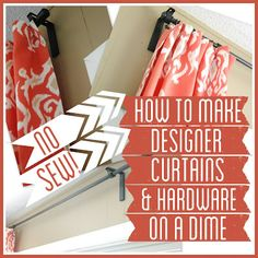 How to Make No-sew Curtains by Bright Green Door- at blissfullyeverafter.net