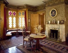 South parlor at the 1846 Roseland Cottage, Woodstock, CT