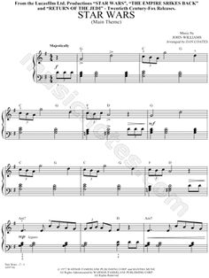 """""""Star Wars - Main Theme"""" from 'Star Wars' Sheet Music (Easy Piano) (Piano Solo) - Download & Print"""