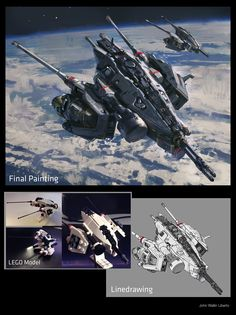 """Check out how John Liberto uses LEGO to help create designs! http://conceptartworld.com/?p=899  """"Using LEGO to create designs and then paint over them, it's fun and helps me with the major forms."""" - John  John Wallin Liberto is currently working as a Senior Concept Artist at 343 Industries."""