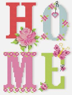 Butterfly & Roses - Butterfly & Roses (+Bonus Tender, romantic cross stitch roses, cute, sweet butterflies, and handwriting. Cross Stitch Letters, Cross Stitch Rose, Cross Stitch Charts, Cross Stitch Designs, Stitch Patterns, Machine Embroidery Patterns, Embroidery Files, Cross Stitching, Cross Stitch Embroidery