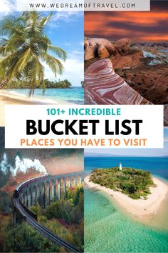 Looking for some inspiration for your next vacation? Discover over 101 dream destinations to add to your travel bucket list, including places in all seven continents. #DreamDestinations #TravelBucketList #BucketListPlaces #TravelInspiration Travel Hacks, Travel Advice, Travel Guides, Travel Tips, Travel Destinations, Kenya Travel, Africa Travel, Usa Travel, Adventure Bucket List