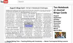 If you're not sure how the Bingo Cards or Sacred Writing Time works, here is an eleven minute video explaining how we support our students.  Click image to view video at YouTube!