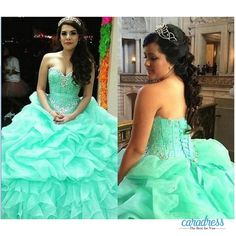 Find More Quinceanera Dresses Information about Mint Green Quinceanera Dresses 2017 Sweetheart Crystals Beaded Organza Ruched Ball Gown Lace Up Back Sweet 16 Prom Dresses,High Quality dress up wedding dresses,China dress patterns prom dresses Suppliers, Cheap dress up a black dress from only true love topseller Store on Aliexpress.com