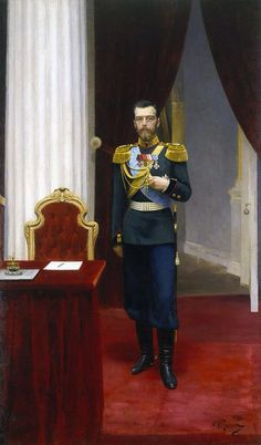 Portrait of Emperor Nicholas II Haunting. Ilya Repin