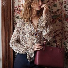 the quintessential tote by Tory Burch