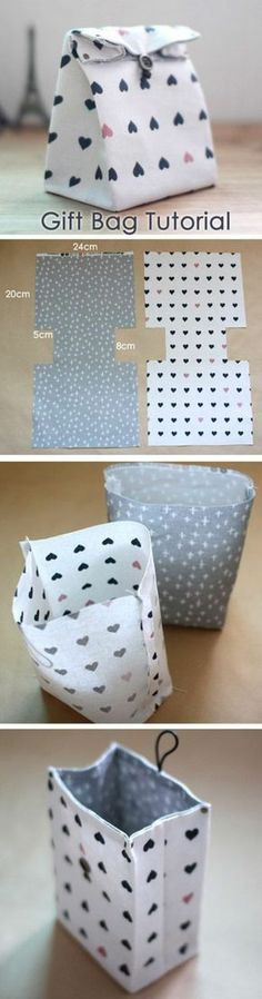 Quick & Easy Sewing Projects for Beginners Traditional-style Fabric Gift Bags. You can make a fabric gift bag with just basic sewing skills. You can make a fabric gift bag with just basic sewing skills. Beginner Sewing Projects, Sewing Basics, Sewing Tutorials, Sewing Crafts, Sewing Patterns, Basic Sewing, Sewing Tips, Sewing Ideas, Beginners Sewing