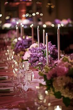 Weddings Inspiration - Purple Tablescape.