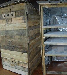 How to Build a Smokehouse:DIY Smoker tutorial with step-by-step instructions for a homemade pallet smokehouse.Clear photos, video & easy to follow plans