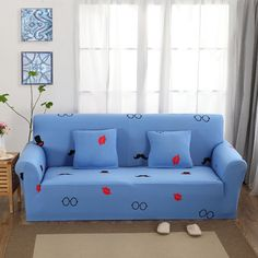 1/2/3/4 Seat Sofa Slipcovers Blue Corner Sofa Covers Magician Hat Pattern  Couch Sofa Covers Universal Stretch Furniture Covers. Yesterdayu0027s Price: US  $37.00 ...