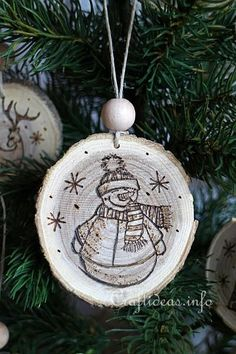 Wood Burned Christmas Ornaments 3