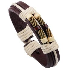 Rope Decorated Faux Leather Layered Bracelet 1.90 USD