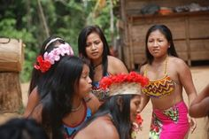 Embera women in Panama dance for ecotourists as husbands and brothers play flutes and drums. #communityheart