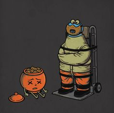 65 Clever Illustrations Inspired By Elements Of Pop Culture By Ben Chen Sesame Street Characters, Cool Pops, Cute Illustration, Icon Illustrations, Surreal Art, Comic Strips, Pop Culture, Pop Art, Geek Stuff