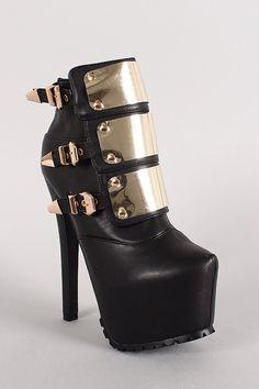 High heeled platforms