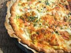romarin, poivre, citron, saumon fumé, mozzarella, crème fraîche épaisse, pâte brisée