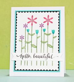Created by Stephanie Klauck using new Exclusives by Simon Says Stamp from their Late Spring release.  April 2014