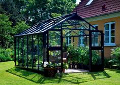 Juliana Premium drivhus 3 mm delt glas + antracit profiler