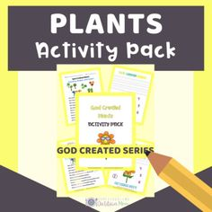 God Created Plants and Trees by Homeschooling Dietitian Mom | TpT Writing Practice, Preschool Kindergarten, Dietitian, Amazing Gardens, Homeschooling, How To Memorize Things, Encouragement, Trees, Teaching
