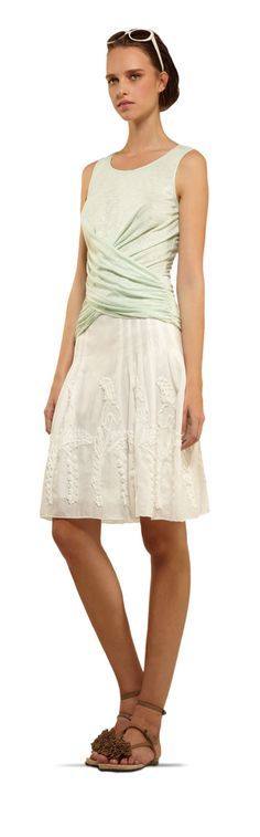 Embroidered Cotton Skirt - MAX STUDIO
