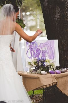 LOVE this idea!! Unique version of a Sand Ceremony, use Paint instead!!!!! Blog — San Diego Wedding Photography