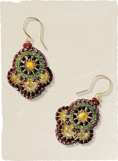 Sunburst Beaded Earrings. Shop Women's Earrings and Hoops in Quality Gold, Silver and Precious Stones, Stylish & Stunning Peruvian Jewelry for Women in Fine Fashion. Exclusive Womens Clothing with Original & Fashionable Designs