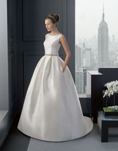 Stunning and elegant wedding dress - two by rosa clara (riba model) which received amazing compliments from all our wedding guests. Rosa Clara Wedding Dresses, Wedding Dresses Photos, Formal Dresses For Weddings, Elegant Wedding Dress, Trends 2018, Wedding Gowns With Sleeves, One Shoulder Wedding Dress, Disney Princess Dresses, Lace Sleeves