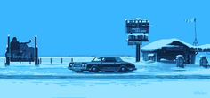 Stream info plus sources original and also zoom. Dedicated Fargo tv-show and theme on Pixel Dailies. Fargo Tv Show, Pixel Art Gif, Arte 8 Bits, The Long Dark, Pix Art, Pixel Animation, Polygon Art, Pixel Games, City Aesthetic