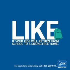 One of the best things you can do to help your children have a successful school year is to keep them healthy. Like this graphic if you're committed to protecting your children from secondhand smoke.