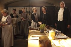 Downton Abbey - Anna Bates and Mrs. Hughes with Mrs. Patmore and Charles Carson