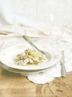Italian #gnocchi with #topinambur sauce and artichoke - Sarah Brunella photography