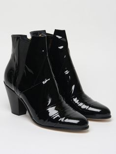 The Gareth Pugh Men's Patent Cuban Heel Boot for autumn/winter '11