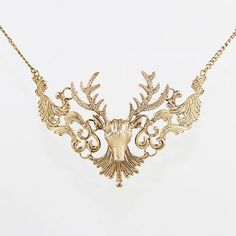 #SheInside Gold Hollow Deer Necklace - Sheinside.com