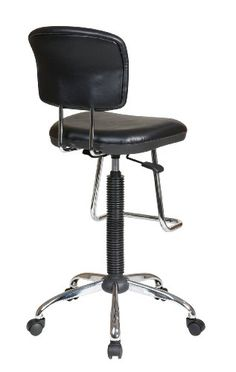 Office Star Pneumatic Drafting Chair with Vinyl Stool and Back  Casters and  Adjustable Chrome TeardropSilla de trabajo industrial XP15A   STORM  las Sillas Industriales  . Office Star Height Adjustable Drafting Chair With Footring. Home Design Ideas