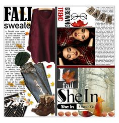 """""""Fall Sweater with Shein"""" by jmtothemusic ❤ liked on Polyvore featuring Superdry, Crate and Barrel and Retrò"""