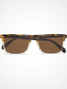 Oliver Peoples Bernardo Polarised Rectangular-Frame Acetate Sunglasses | BASOUK