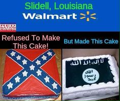 """Saw this on the news. Walmart refused to make the Confederate Flag with the words, """"Heritage Not Hate"""", but then made this ISIS battle flag instead."""