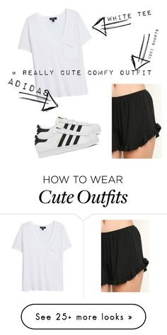 """Really cute comfy outfit"" by gabrielle-souerette on Polyvore featuring Brandy Melville, MANGO, adidas, women's clothing, women's fashion, women, female, woman, misses and juniors"
